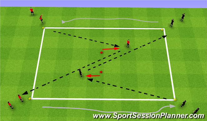 Football/Soccer Session Plan Drill (Colour): Passing Sequence Warm up