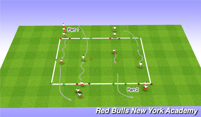 Football/Soccer Session Plan Drill (Colour): Individual Possession