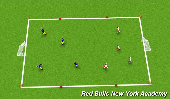 Football/Soccer Session Plan Drill (Colour): SAC Warm-up: team handball