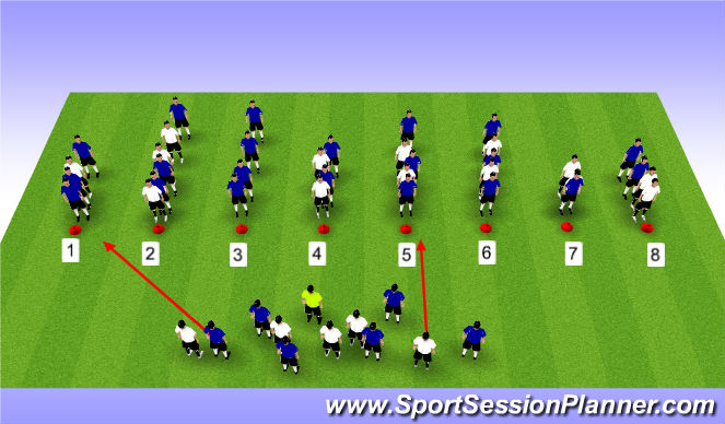 Football/Soccer Session Plan Drill (Colour): Creating Groups