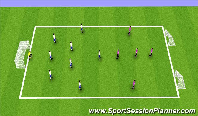Football/Soccer Session Plan Drill (Colour): 9V5