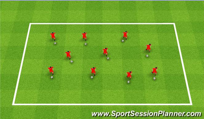 Football/Soccer Session Plan Drill (Colour): TK2K