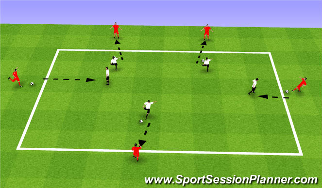 Football/Soccer Session Plan Drill (Colour): Magic Square