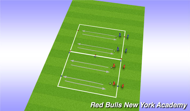 Football/Soccer Session Plan Drill (Colour): Techincal- Stop-starts