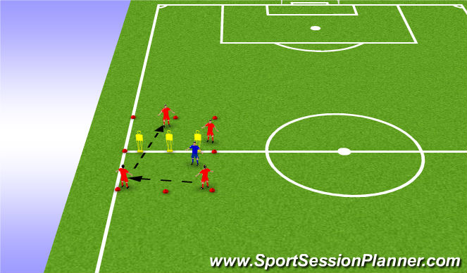 Football/Soccer Session Plan Drill (Colour): Gaps and seams rondo