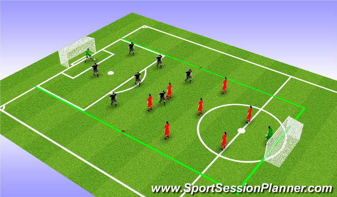 Football/Soccer Session Plan Drill (Colour): Uninterrupted Play