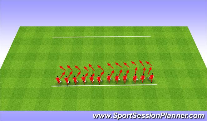 Football/Soccer Session Plan Drill (Colour): Dribbling