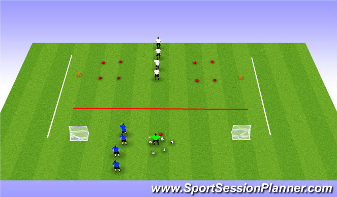 Football/Soccer Session Plan Drill (Colour): 1v1 Combat