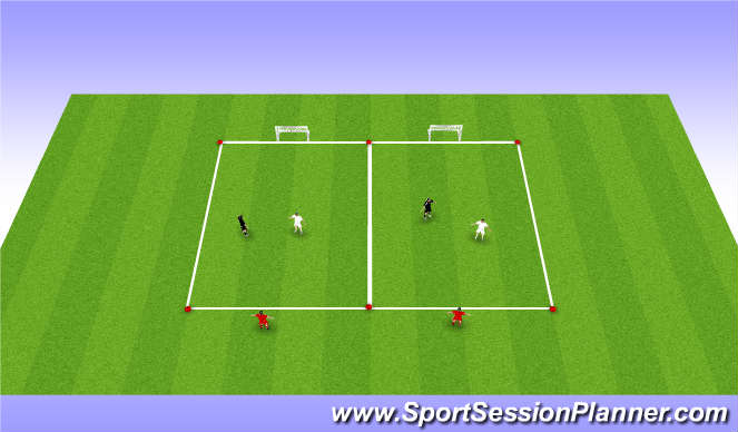 Football/Soccer Session Plan Drill (Colour): 1v1 with target