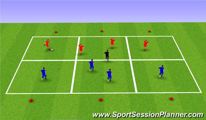 Football/Soccer Session Plan Drill (Colour): Posession Practice