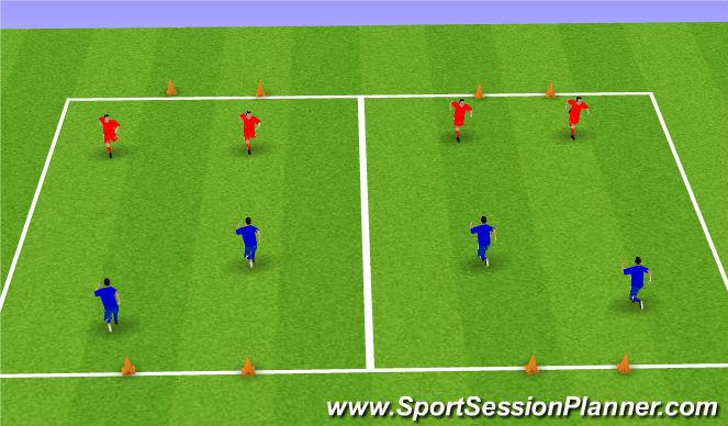 Football/Soccer Session Plan Drill (Colour): 2 SSG