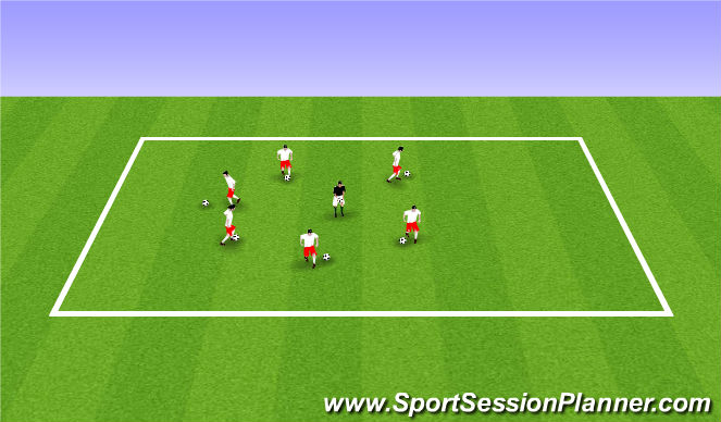 Football/Soccer Session Plan Drill (Colour): ODP U6-U8 7:00-8:00