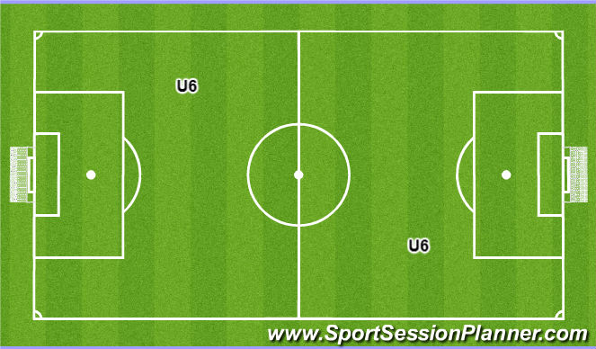 Football/Soccer Session Plan Drill (Colour): U6