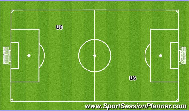 Football/Soccer Session Plan Drill (Colour): U6