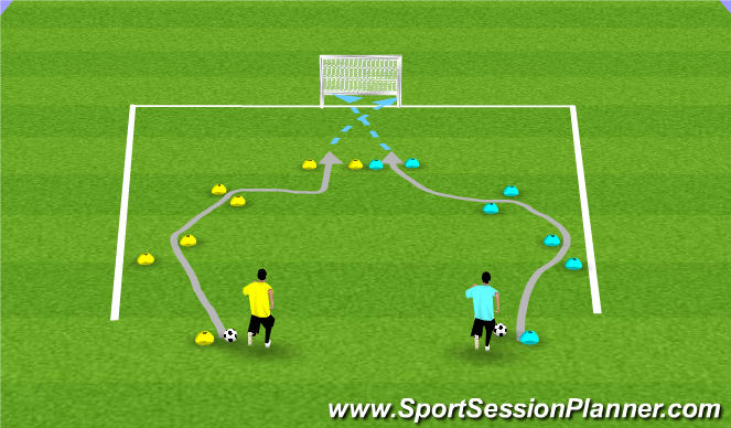 Football/Soccer Session Plan Drill (Colour): Grand Prix