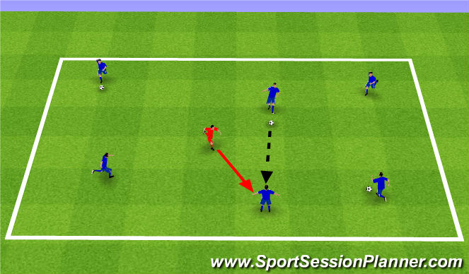Football/Soccer Session Plan Drill (Colour): Skill Intro Cntd