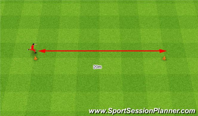 Football/Soccer Session Plan Drill (Colour): Reactive gear. Biegi- reakcja.
