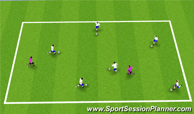 Football/Soccer Session Plan Drill (Colour): Toilet Tag