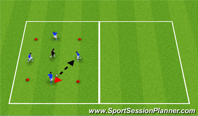 Football/Soccer Session Plan Drill (Colour): Rondo