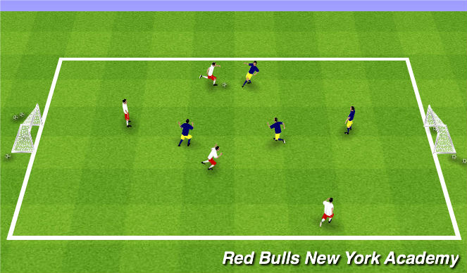 Football/Soccer Session Plan Drill (Colour): Tournament 3v3/4v4