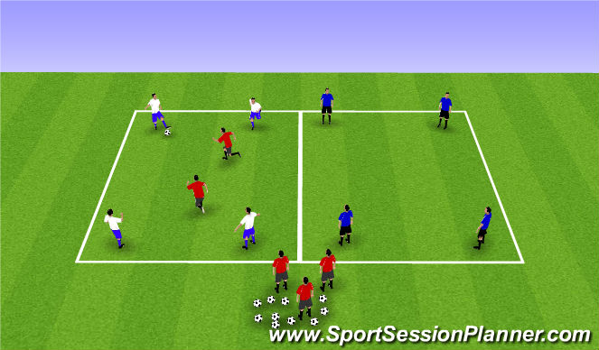 Football/Soccer Session Plan Drill (Colour): Dan's Game
