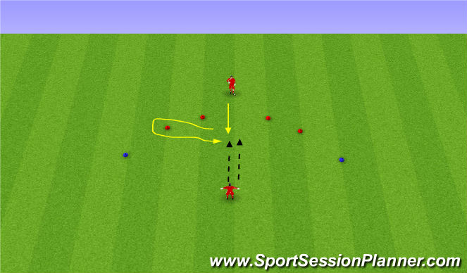 Football/Soccer Session Plan Drill (Colour): Volleys/Handling