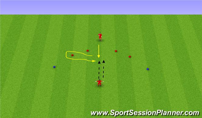 Football/Soccer Session Plan Drill (Colour): Volleys/Handling