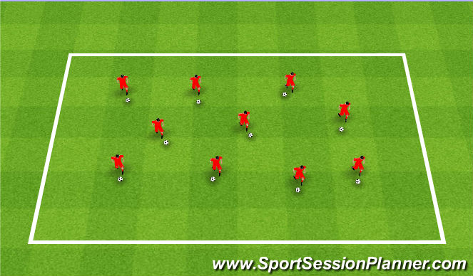 Football/Soccer Session Plan Drill (Colour): TK2K