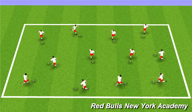 Football/Soccer Session Plan Drill (Colour): Foot Skill Warm-up