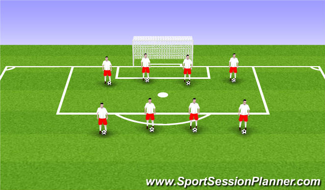 Football/Soccer Session Plan Drill (Colour): ODP U6-U8 ODP