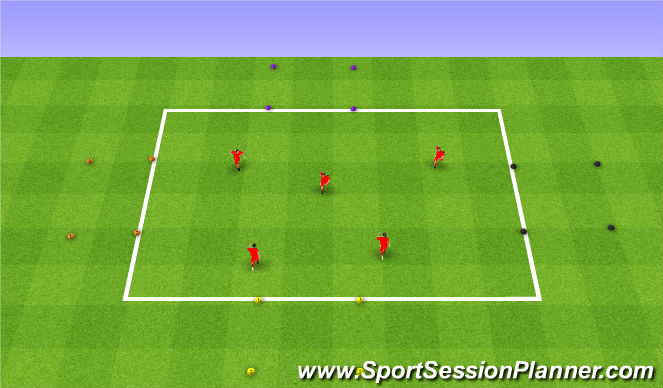 Football/Soccer Session Plan Drill (Colour): Driving a car. Prowadzenie auta.