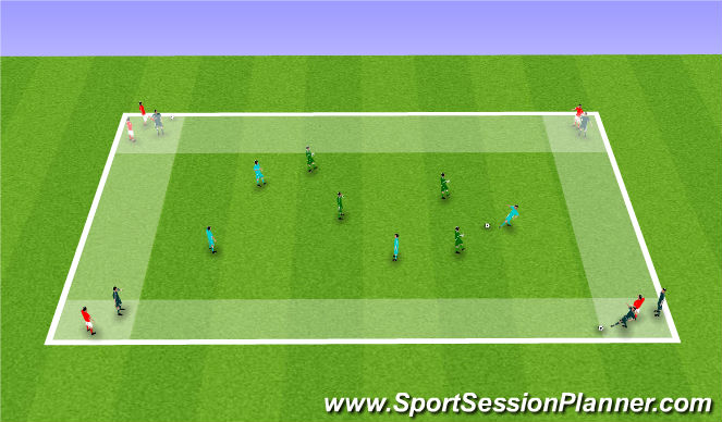 Football/Soccer Session Plan Drill (Colour): Game within the Practice.
