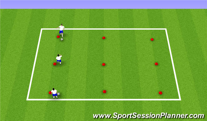 Football/Soccer Session Plan Drill (Colour): Passing in 3's