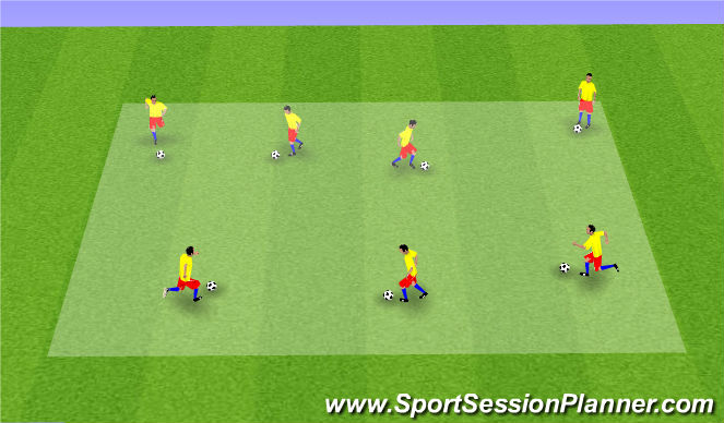 Football/Soccer Session Plan Drill (Colour): Welocme to Soccer City