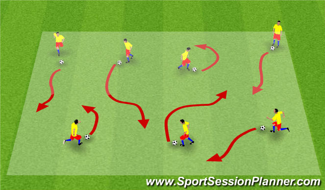 Football/Soccer Session Plan Drill (Colour): Intro to Soccer City