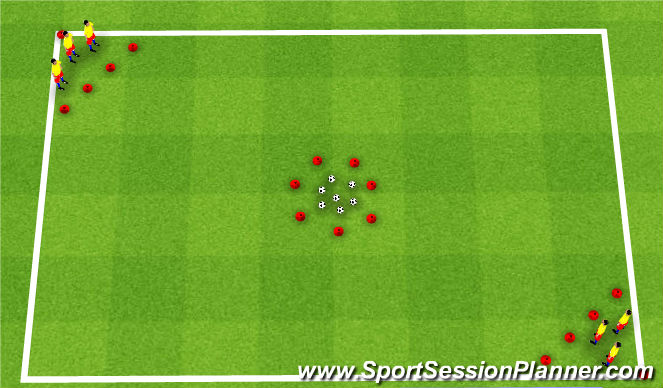 Football/Soccer Session Plan Drill (Colour): Golden Egg
