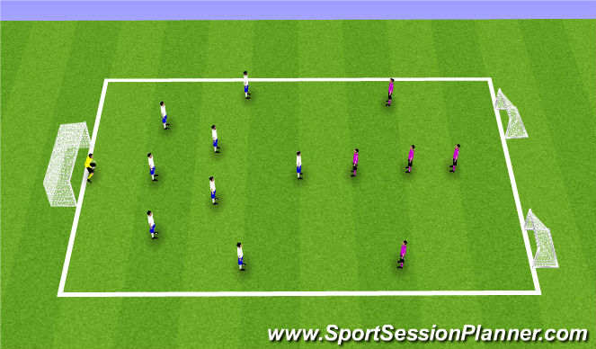 Football/Soccer Session Plan Drill (Colour): 9V5