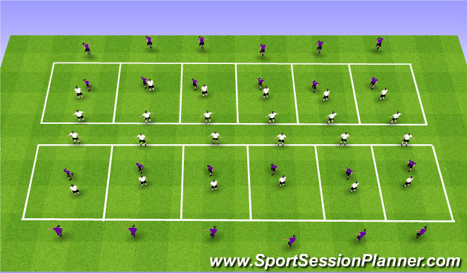 Football/Soccer Session Plan Drill (Colour): 1v1 Human Goal