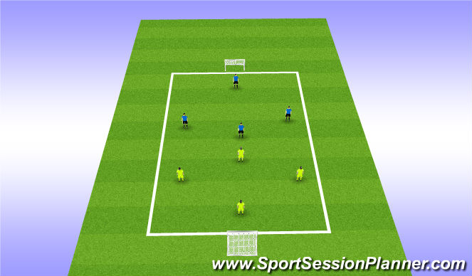 Football/Soccer Session Plan Drill (Colour): End game