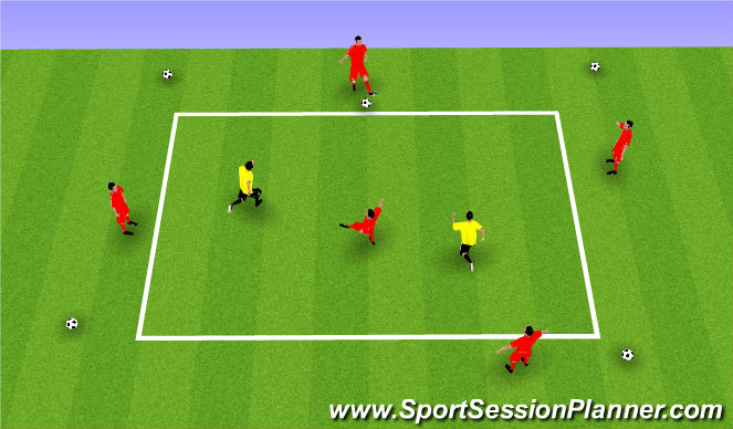 Football/Soccer Session Plan Drill (Colour): Rondo - 5v2