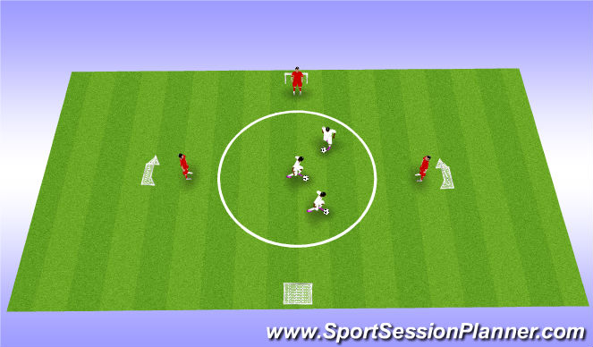 Football/Soccer Session Plan Drill (Colour): 设条件比赛