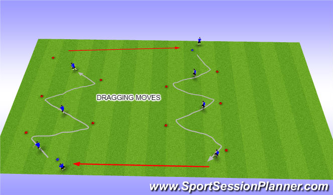 Football/Soccer Session Plan Drill (Colour): Dragging