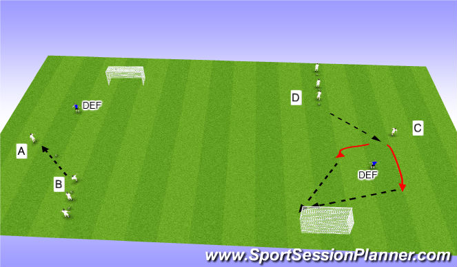 Football/Soccer Session Plan Drill (Colour): Dragging Opposed