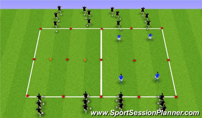 Football/Soccer Session Plan Drill (Colour): 1v1 Moves.