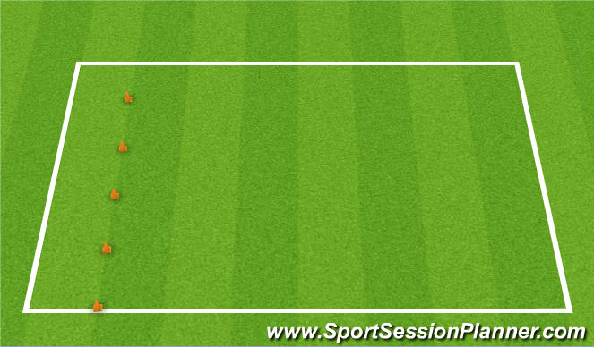 Football/Soccer Session Plan Drill (Colour): Shuttle Cones