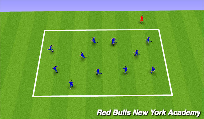 Football/Soccer Session Plan Drill (Colour): Main Theme- Technical (Unopposed)