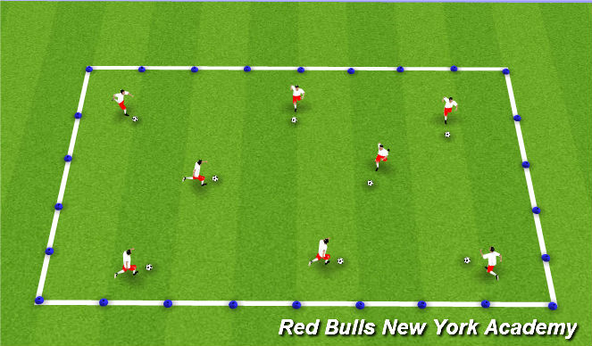 Football/Soccer Session Plan Drill (Colour): Pirate Training
