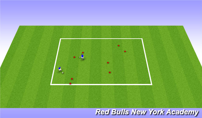 Football/Soccer Session Plan Drill (Colour): Warm up/ Introduction
