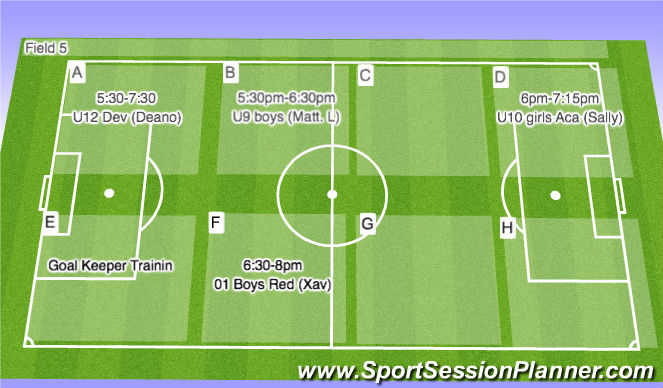 Football/Soccer Session Plan Drill (Colour): Field 5