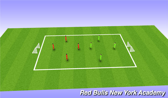 Football/Soccer Session Plan Drill (Colour): Free play tournament